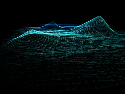 Audio Spectrum reactive waveform 3d lowpoly poly particle field threejs webgl audio