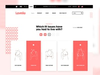 Lovelie clean white patterns minimal design layout ux intimates womens branding ui web