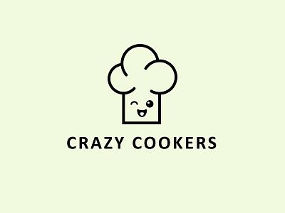 Crazy Cookers logo concept minimal graphic design branding design logo
