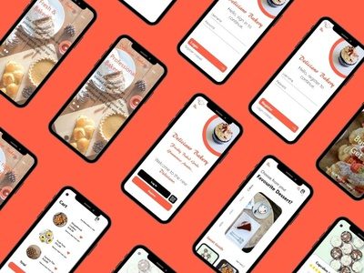 Deliciano Bakery Mobile App UX Design yumminess bakers professional bakers baked goods fresh delicious savoury desserts delivery app delicianobakery mobile app design ux design adobexd ux designer ux design ui logo branding