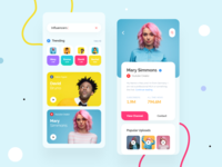 Influencer App Finder trending videos colorful app design influencers influencer