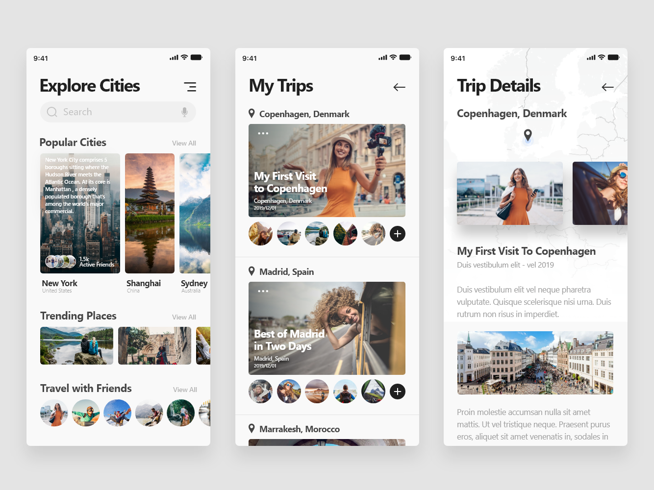 Travel App - Freebie ui freedownload freebie xd adobe xd appdesign trip app travel app
