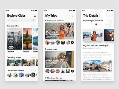Travel App - Freebie ui freedownload freebie xd adobe xd appdesign trip app travel app