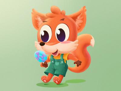 Cute Fox baby animals cute animals green lolipop fox