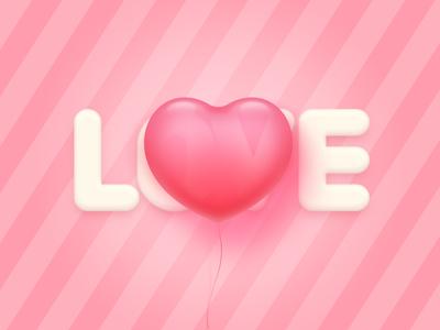 Love pink airballoon icon love