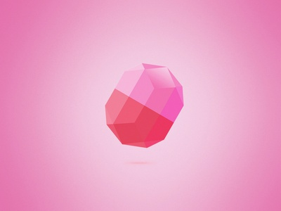 Diamond diamond crystal pink
