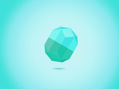 Diamond green diamond crystal