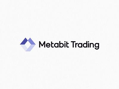 Metabit Trading Logo trading finance technology minimalism geometric design brand logo