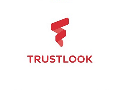 Trustlook Logo andriod geometric red trustlook branding logo