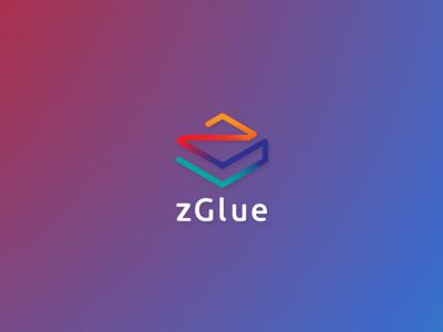zGlue internet iot minimalism technology chips logo gradient zglue glue z