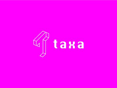 Taxa Logo technology mobiusstrip blockchain brand logo