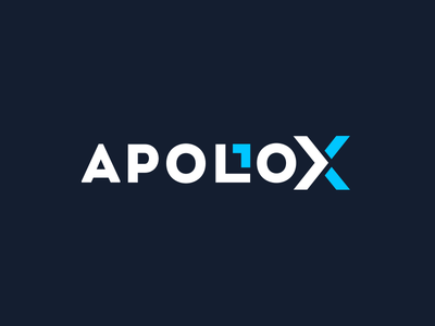 Apollox Logo Design ai geometric typography blockchain design technology brand logo