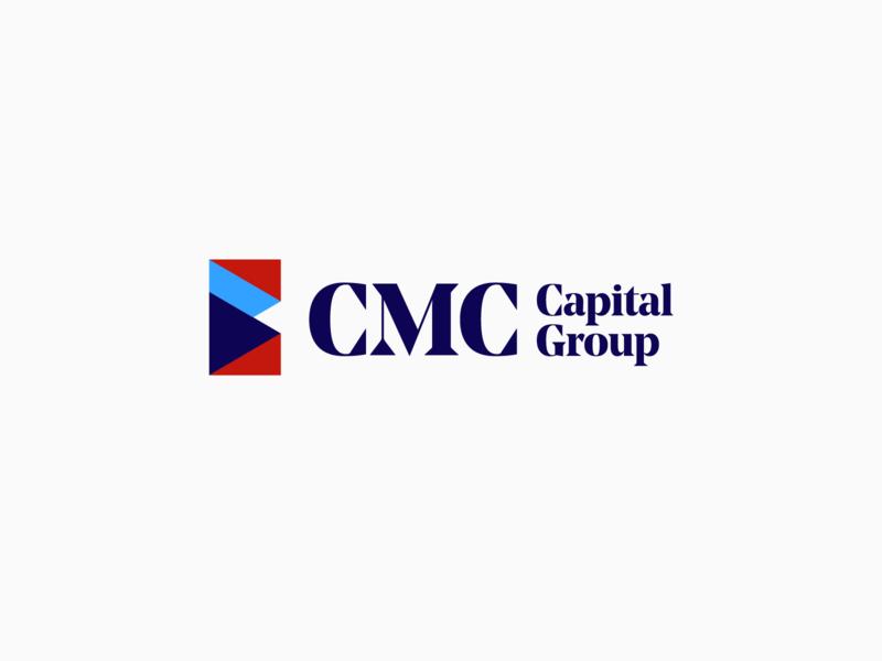 CMC Capital Group Logo Concept investment funding capital technology minimalism geometric design brand logo