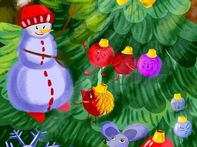 Снеговик design illustration
