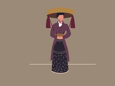a princess branding vector design illustration graphic design