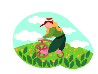 summer bright illustration ui vector design illustration