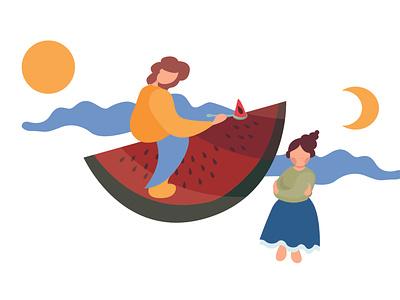 summer app vector design illustration