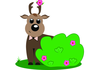 kawaii deer deer deer illustration cute animals kids illustration animals illustrator vector illustration