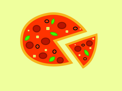 Pizza time junkfood food pizza illustrator vector illustration