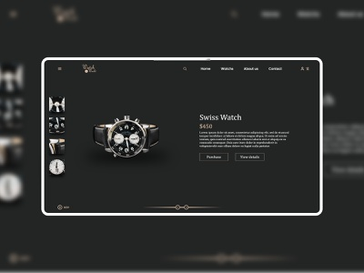 Luxurywatch ⌚️ Product Landing Page watch minimal web ux ui design