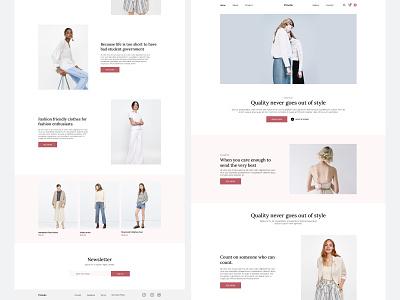 Fashion Clothing Store Website fashion website design fashion figma web design website ux ui design