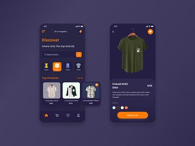 Cloth store app concept cloth online cloths store mobile app design mobile app cloths fashion figma ux ui design