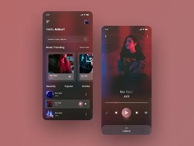Music player mobile app design branding inspiration mobile app figma mobile ux ui podcast music player music mobile design mobile app design
