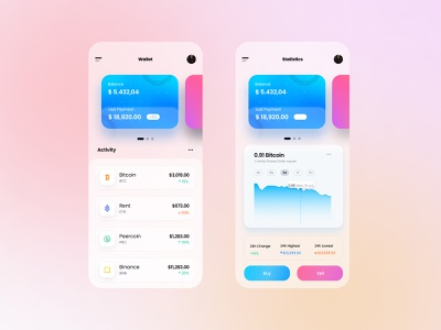 Crypto - Mobile App dailyuichallenge color concept creative challenge cryptowallet cryptocurrency crypto design ux ui figma app uidesign graphicdesignui userinterface appdesign dailyui userexperience