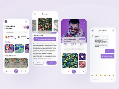 Influencer App concept inspiration adobe xd dailyui clean website creative figma influencer app concept design ux ui