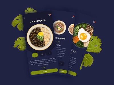 KOREAN FOOD - MOBILE APP 🍙 logo illustration clean website creative figma design ux ui food mobile app food app food food delivery app korean food