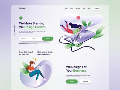 Creative Design Agency Website ux ui website creative figma design landing page website landing page digital agency creative agency creative design agency