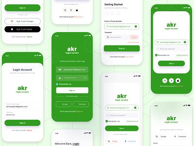 App Login Mobile Screen clean creative website figma design ux ui sign in signup mobile screen login login screen