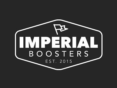 Imperial Boosters Brand bold heavy type logo design logo branding