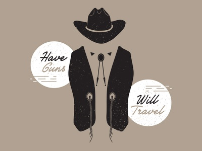 Have Will brown bolo tie guns country western western cowboy