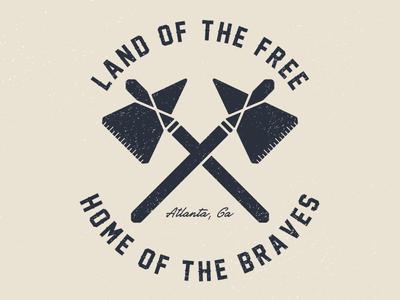 Home of the Braves screenprint print atlanta mlb baseball braves design