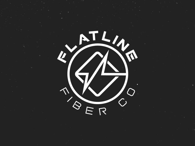 Flatline Fiber Co. simple clean mono-line logo design branding