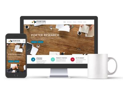 Porter Research Website web design responsive web design wordpress