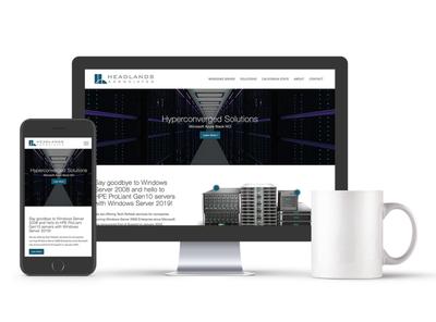 Headlands Website web design responsive web design wordpress