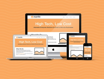 Mantle Services Website website design responsive web design bootstrap
