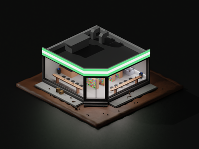 convenience store minimal designs isometric art store