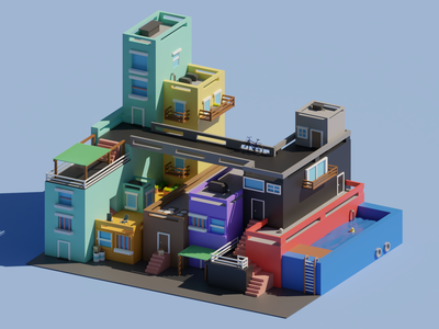 around the block graphic design 3d lowpolyart lowpoly3d lowpoly isometric art designs illustration design