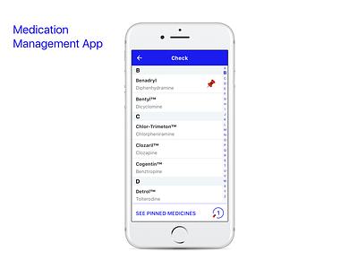 Medication Managment App design ux mobile medicine healthcare