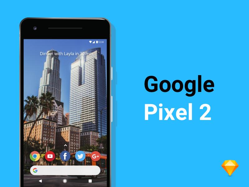 Google Pixel 2 Mockup (Freebie) freebies freebie mockup oreo android pixel2 google