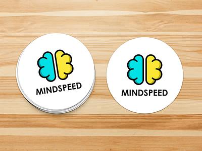 MINDSpeed Logo and Sticker Design health digitalhealth sticker logo