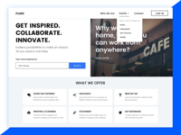 Landing Page - Fluke, a co-working space.