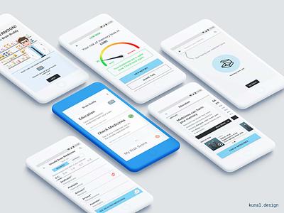 Brain Buddy, mobile app ux ui healthcare design ios android