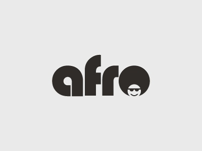 Afro Typographic Logo Design icon symbol mark simple minimal logo design typographic logo afro africa african hair hairstyle