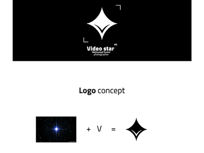 video star photographer logo