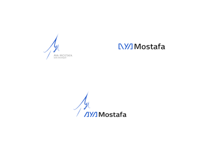 AYA Mostafa web developer logo design