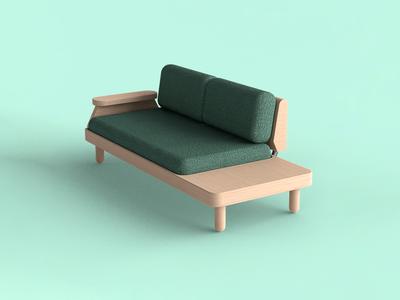 🛋️ Nobel. 2-seat lounge sofa